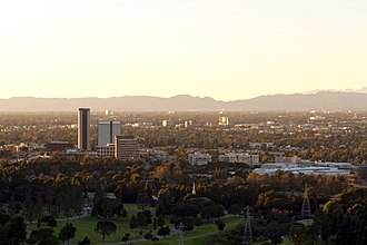 Burbank, California - Looking northwest over Burbank from Griffith Park