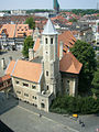 Burg Dankwarderode - Turm beim Rittersaal, vom Rathausturm gesehen.jpg