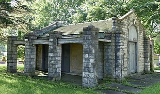 National Register of Historic Places listings in Racine County, Wisconsin - Image: Burlington Cemetery Chapel
