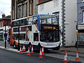 Bus on High Street, Lincoln, England - DSCF1337.JPG