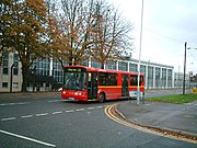 Bus passes RAF West Drayton - geograph.org.uk - 76380