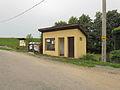 Bus stop in Studnice, Třebíč District.JPG