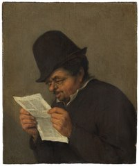 Bust of an Old Peasant Reading a Paper