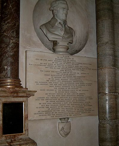 Cenotaph of Pasquale Paoli, at Westminster Abbey (London). Buste Pasquale Paoli.jpg