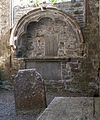 Buttevant Friary South Transept Side Chapel East Wall Tomb Niche 2012 09 08.jpg