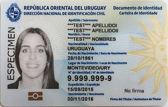 Visa requirements for Uruguayan citizens - Uruguayan ID card is recognized as a travel document by most South American countries