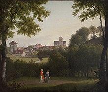 fb18f2166d3 Lyngby med Lyngby Kirke set fra Sorgenfri Park: C.W. Eckersbergs maleri  udført mellem 1803 og 1810. Foto: Statens Museum for Kunst