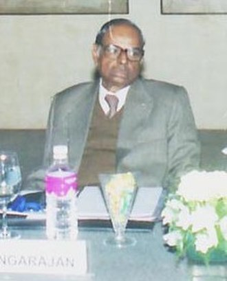 "C. Rangarajan - Image: C. Rangrajan at the Conference on ""Fiscal Policy in India"" (cropped)"