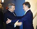 CANCILLER RONCAGLIOLO Y PRESIDENTE DE COLOMBIA SOSTUVIERON BREVE ENCUENTRO EN CONTEXTO DE ASAMBLEA GENERAL DE LA ONU (8028146883).jpg