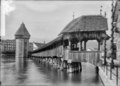 CH-NB - Luzern, Kapellbrücke mit Wasserturm, vue partielle - Collection Max van Berchem - EAD-6741.tif