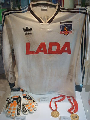 Colo-Colo - Colo-Colo's uniform at the 1991 Copa Libertadores Finals