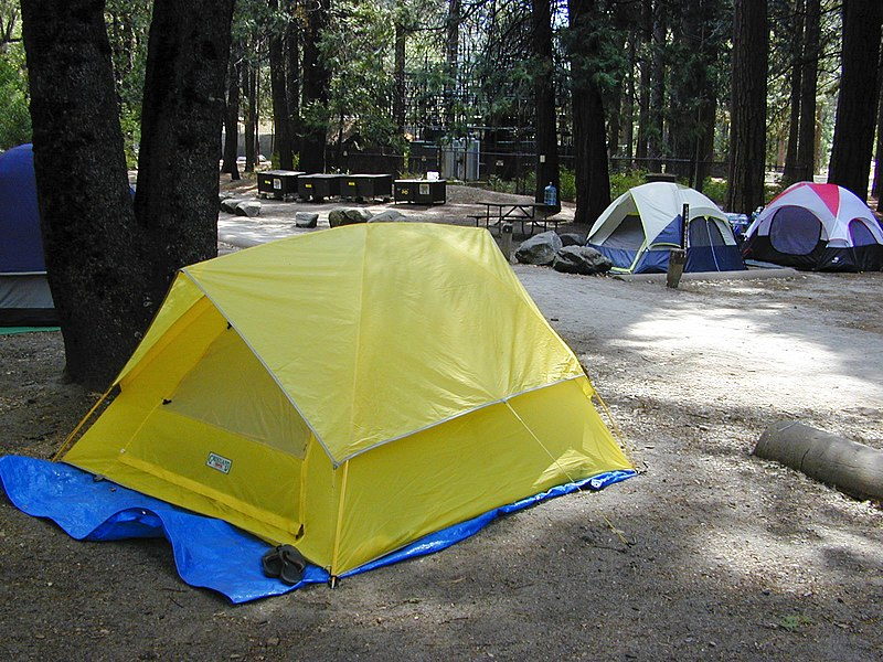 Camping in Camp 4 by Dawn Endico via Wikipedia