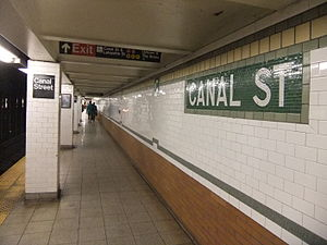 Canal Street (New York City Subway) - Image: Canal Street 6 Platform