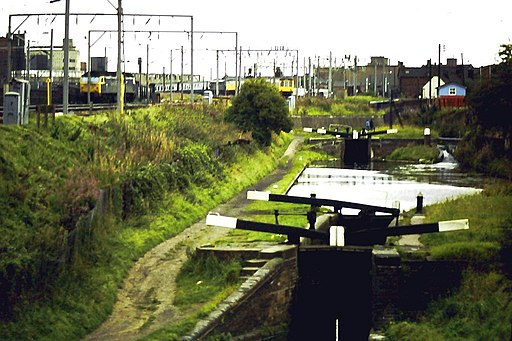 Canals and railways, Wolverhampton - geograph.org.uk - 1718425