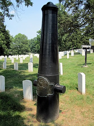 Culpeper National Cemetery - Image: Cannon Marker Culpeper National Cemetery