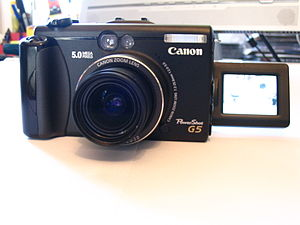 English: Canon PowerShot G5 camera