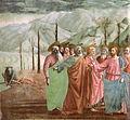 Cappella brancacci, Pagamento del tributo, dettaglio 2 (restaurato), Masaccio.jpg