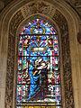 Cappella di filippo strozzi, vetrata su disegno di filippino lippi, 01.JPG