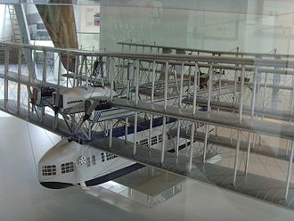 Triplane - A scale model of a Caproni Ca.60 flying boat.