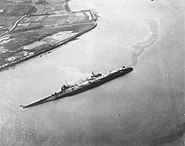 Oyodo cruiser capsized 1945
