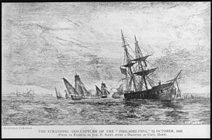 Stephen Decatur - Grounding and capture of USS Philadelphia