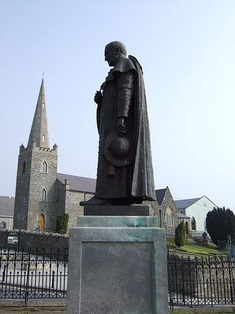 Patrick O'Donnell (cardinal) - A statue outside of St. Eunan's Cathedral, Letterkenny, in memory of the Cardinal
