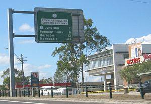 Cumberland Highway - Image: Carlingford cumbohwy