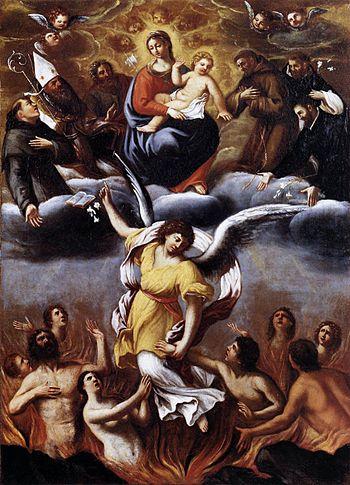 An Angel Frees the Souls of Purgatory