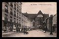 Carte postale ancienne de la place et de l'église Saint-Germain de Rennes.jpg