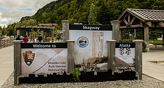 Klondike Gold Rush National Historical Park - Welcome sign