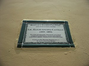 Eligio Ancona - Casa de Eligio Ancona en Mérida, Yucatán