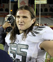 Casey Matthews at the Los Angeles Memorial Coliseum Saturday October 30, 2010.jpg