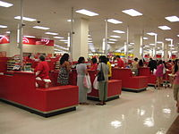Electronic points of sale at a Target store