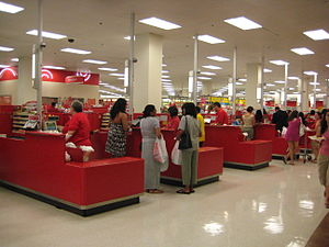Point of sale - Points of sale at a Target store