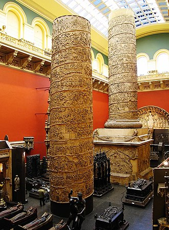 The Oxford Murders (film) - The plaster cast of Trajan's Column at the Victoria and Albert is discussed in the film.