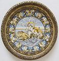 Castelli, piatto con ratto di europa, inizio del XVIII sec.JPG