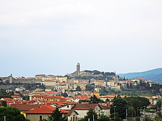 Alessandro Codivilla - View of Castiglion Fiorentino