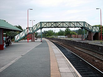 Castleford railway station - Platform 1