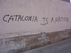 Independentist grafitti in Catalonia