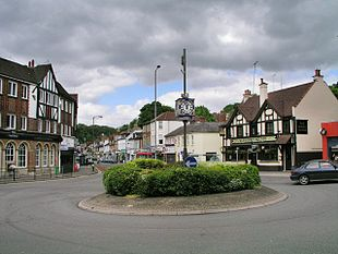 Roundabout in the centre of Caterham valley