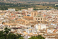 Cathedral and Capilla Real, from Alhambra, Granada, Spain.jpg