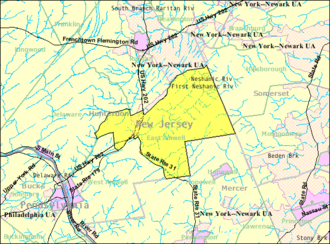 East Amwell Township, New Jersey - Image: Census Bureau map of East Amwell Township, New Jersey