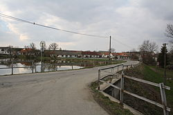 Center of Okarec with pond, Třebíč District.jpg