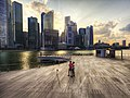Central Business District skyline viewed from the Lower Boardwalk of Marina Bay, Singapore - 20120730.jpg