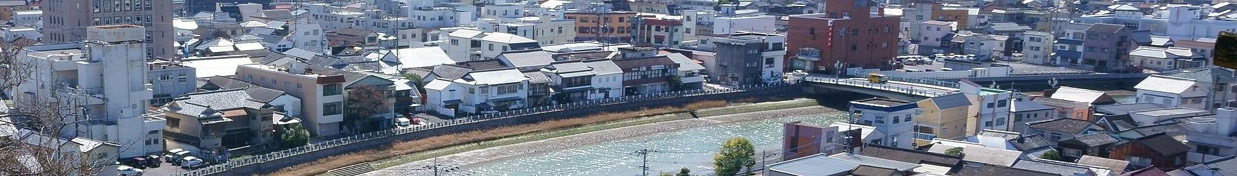 Centre of Imari city from Joyama Park (cropped).jpg