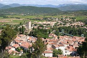 Panorama du village depuis le «Trou du Corbeau»