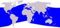 Cetacea range map Bottlenose Dolphin.png