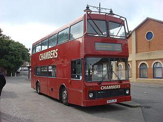 Chambers (bus company) - Northern Counties Palatine bodied Volvo Olympian in Sudbury
