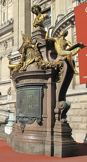 Charles Garnier (architect) - Monument to Garnier at the Palais Garnier