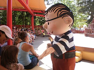A Peanuts character at the Playhouse Theatre in KidZville, one of two children's areas at the park Charlie Brown's Pirate Adventure, Canada's Wonderland.jpg